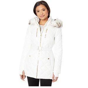 Women's Micheal Kors Zip Front Hood Puffer Coat-M